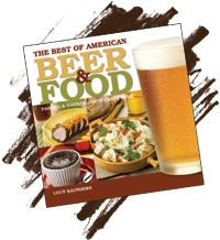 The Best of American Beer & Food [[Italics of book title]] by Lucy Saunders.