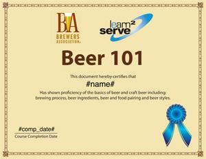 Beer 101 Diploma