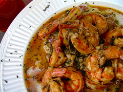 Recipe for Southern style barbecue shrimp and grits made with Abita ...