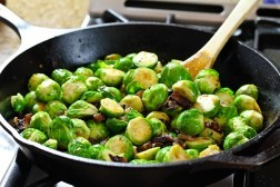 Braised Brussels Sprouts with Bacon and Beer | CraftBeer.com