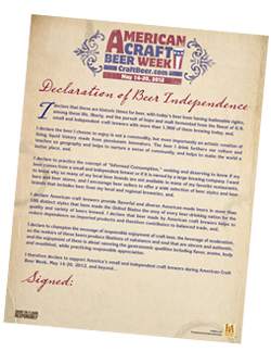 Declaration of Beer Independence