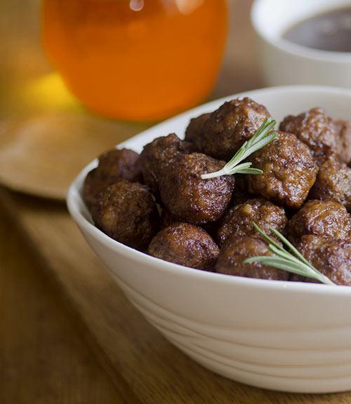 Slow-Cooked Doppelbock BBQ Meatballs