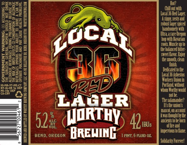 Local 36 Red Lager from Worthy Brewing