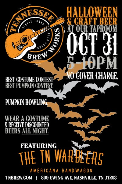 It's a Halloween celebration at the Tennessee Brew Works TapRoom!