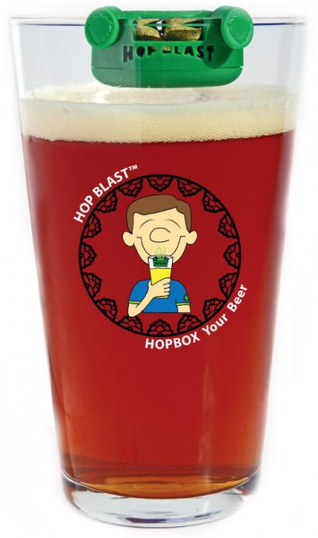 Hop Blast on a Beer Glass