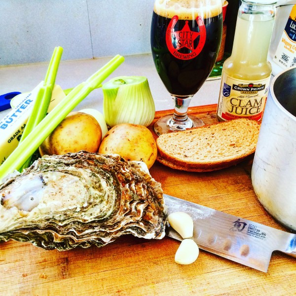 Stout, Oyster and Bacon Chowder