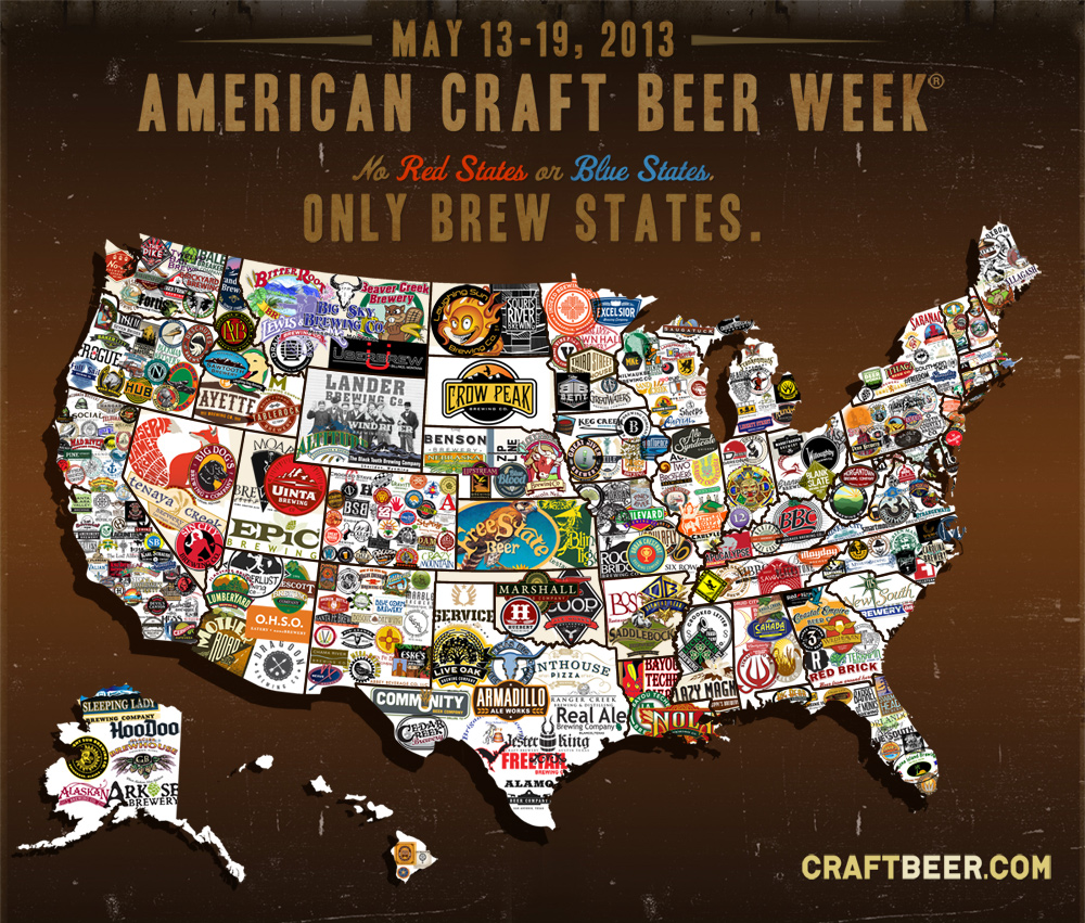 Craft Beer Map Shows Love Of Brew Across The US PHOTO HuffPost - Map of us cartoon