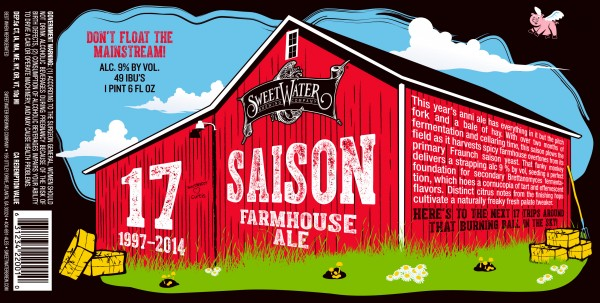 SweetWater 17th Anniversary Saison Label