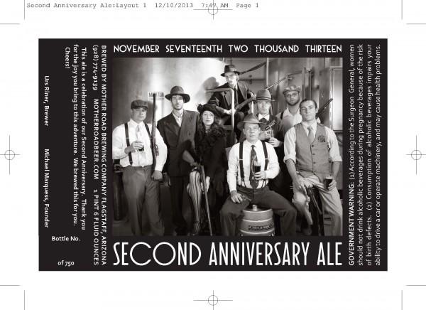 Second Anniversary Ale Label