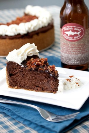 Bacon Stout Chocolate Cheesecake