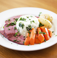 Corned Beef & Cabbage and Barley Wine