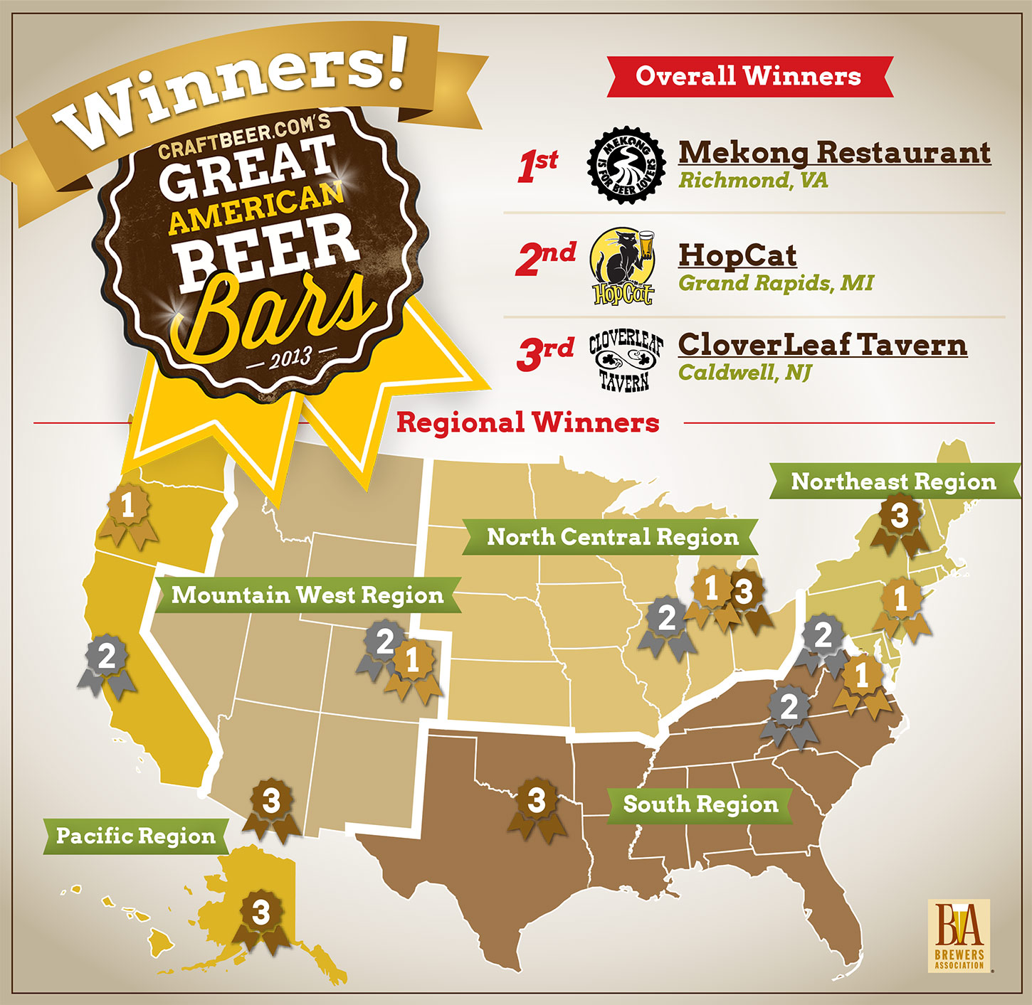 2013 Great American Beer Bar Selected By Craftbeercom Readers - Us-brewery-map