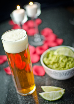 Chile Beer and Guacamole