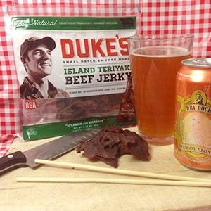Duke's Island Teriyaki Beef Jerky and Dry Dock Apricot Blonde